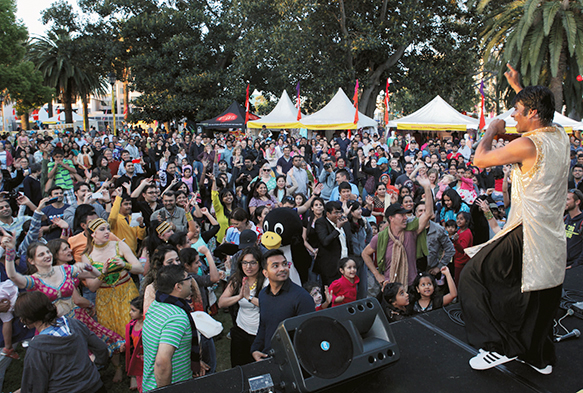 Photograph of crowd at an event in Parramatta