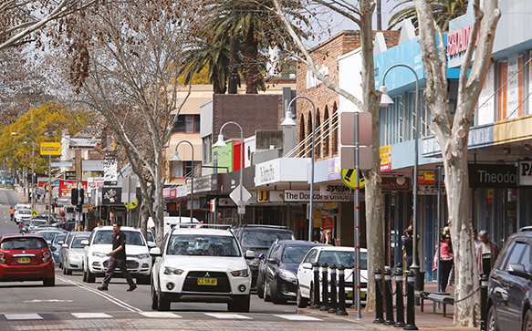 Photograph of High Street in Penrith.