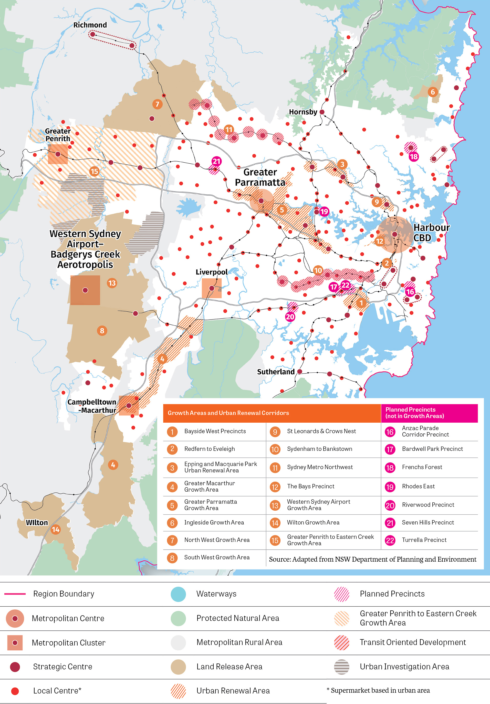 Map of government programs and preferred locations for consideration for future housing