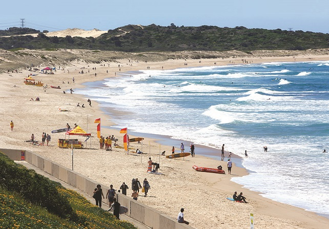 View of a South Sydney beach
