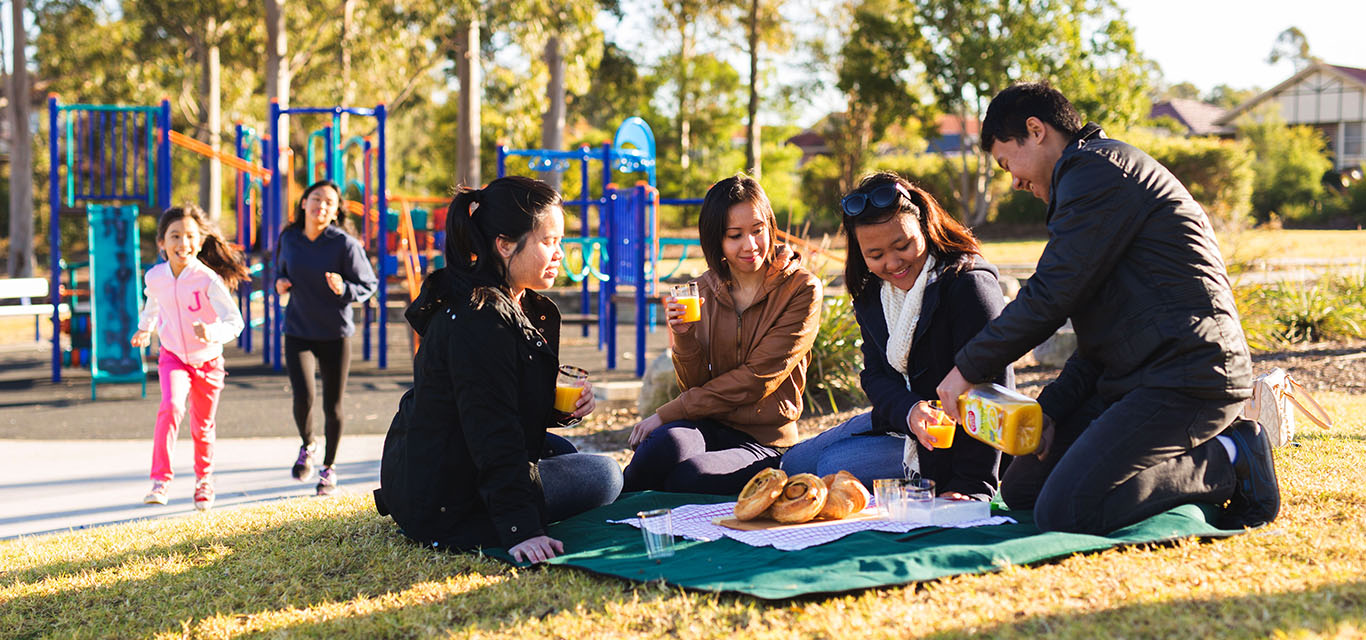 Photograph of a family picnic in Liverpool