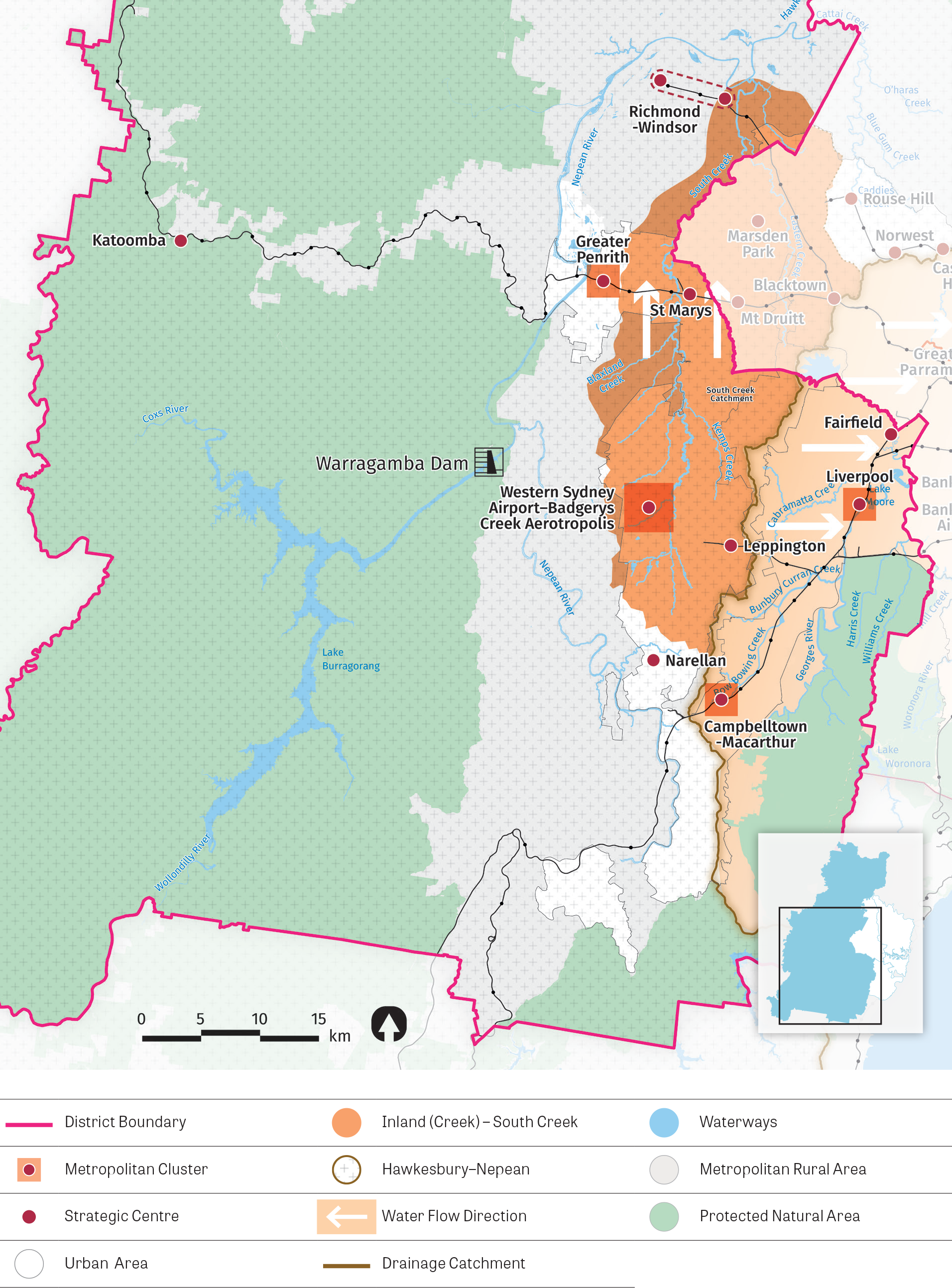 Figure 22:  Map of Western City District's South Creek catchment